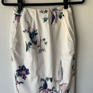French Connection Floral Pencil Skirt
